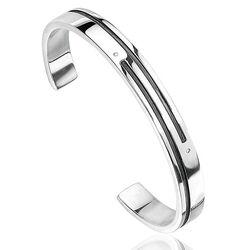 Fredbennett heren armband 2 diamantjes B2572
