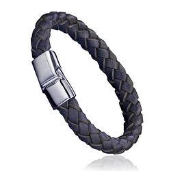 Fredbennett Leren Armband Staal Slot B3673