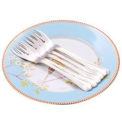6 Zilveren visvorken enkelfilet dubbelzijdig
