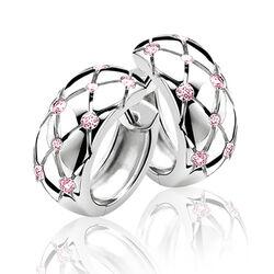 Zinzi creolen roze zirkonia Zio566r