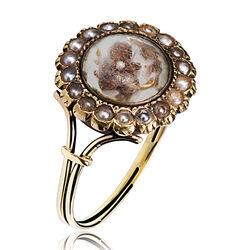 Antieke gouden Memorie ring