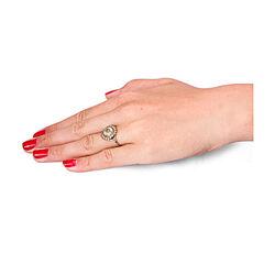Gouden memorie ring met haarwerkje
