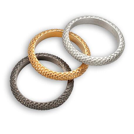 Elements Silver zilveren set van 3 ringen