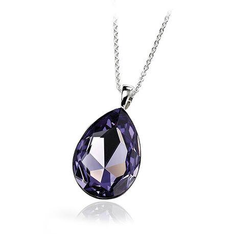 Zilver hanger paars swarovski crystal