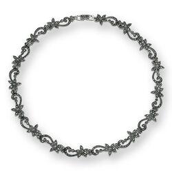 Zilveren collier markasiet 40 cm lang