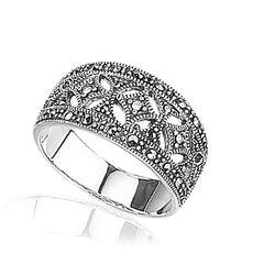 Zilveren ring met markasiet - Zilver.nl