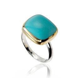 Zilveren Ring Turkoois Zirkonia