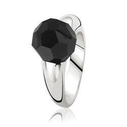 Zilveren ring zwarte bead Zinzi zir501