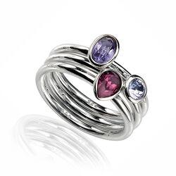 3 Zilveren Ringen Swarovski Crystal
