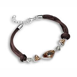 Armband Zilver Zijde Swarovski Crystal