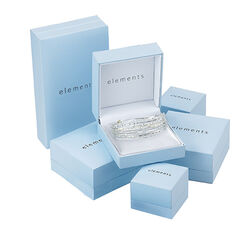 Bruine armband met swarovski van Elements Silver