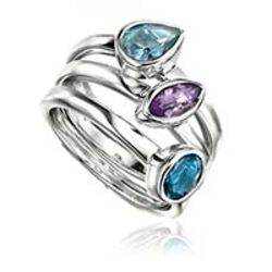 Set van 3 zilveren ringen