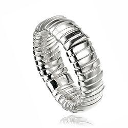 Zilveren stretch ring