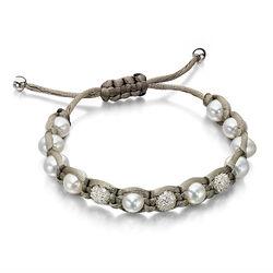 Shamballa armband olijfgroen