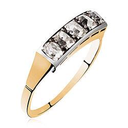 Gouden ring 5 roosdiamanten
