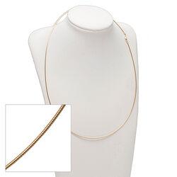 Gouden omegacollier 50 cm