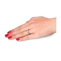 Antiek gouden ring met roosdiamanten