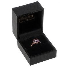 Roségouden ring met amethist