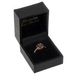 Roségouden ring rookquartz