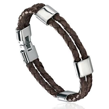 Fredbennet Leren Armband Stalen Slot B3671