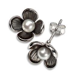 Elements oorstekers bloem parel