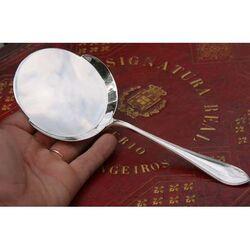 Zilveren spiegeleischep dubbelpuntfilet
