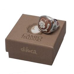 Zilveren ring camee met bloem van Diluca Cameo Italiano