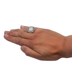 Zilveren ring met camee roos van Diluca