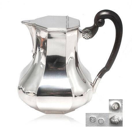 Warme melkkan van zilver model Versailles bolpas
