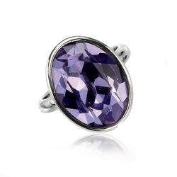 Zilveren Ring Paars Swarovski Kristal