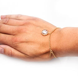 Rosé verguld armbandje met hanger Camee Diluca