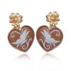 Diluca oorhangers camee hart vlinder