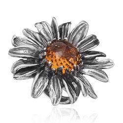 Zilveren ring Margriet geel zirkonia Raspini