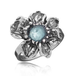 Raspini Ring Blauw Zirkonia In Orchidee