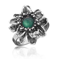 Raspini Ring Waterlelie Groen Zirkonia