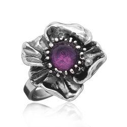 Zilveren ring engelse roos van Raspini