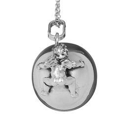 Zilveren hanger bal engel met collier Raspini
