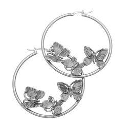 Raspini creolen vlinders van zilver