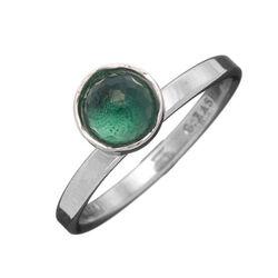Zilveren ring groen zirconia van Raspini