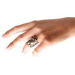 Zilver ring donkergele zirkonia Raspini Jewelry