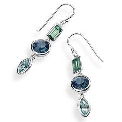 Elements oorhangers Swarovski Kristal Groen Blauw