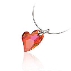 Zilveren hanger roos Swarovski kristal