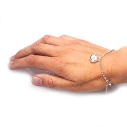 Zilver armbandje camee bloem Diluca