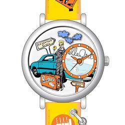 Elle Girl horloge op reis met gele band