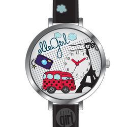 Zwart horloge voor meisjes Elle Girl