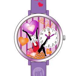 Lila paars meisjes horloge Elle Girl EL0416