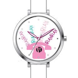 Wit met roze horloge voor meisjes Elle Girl