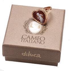 Verguld zilver ring hart camee Diluca