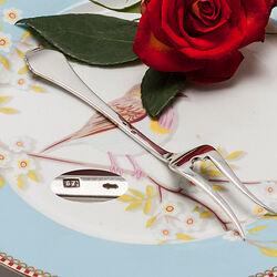 Zilveren Belegvorkje Waaier 14cm.