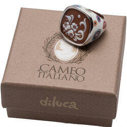 Diluca Ring Camee Emaille